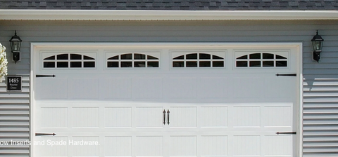 Economy Carriage 18x7 Windowed Non-insulated Garage Door