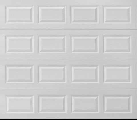 8x7 Economy Series Non-Insulated Garage Door Includes Strut (Style: Traditional)