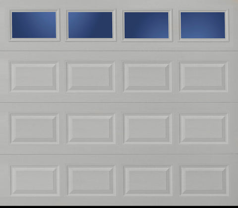 8x7 Economy Series Non-Insulated Garage Door With Windows (Style: Traditional)