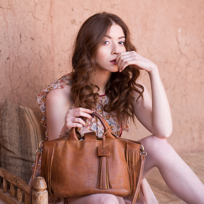 leather bag made in Mororcco