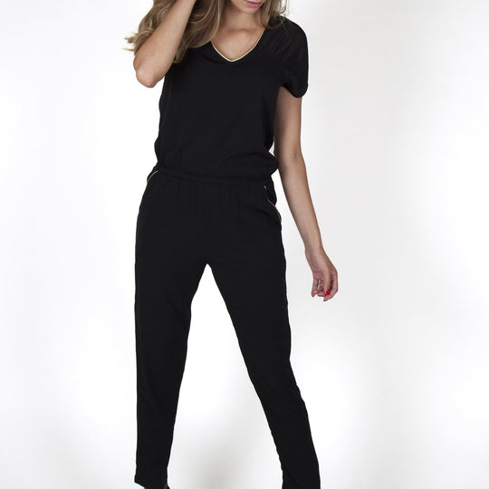Eva Voile Black Jumpsuit Capsule Collection By Juliette - S / Black - Jumpsuits Capsule Collection By Juliette
