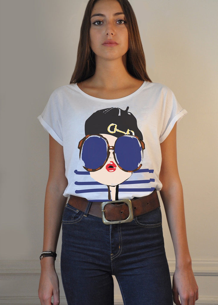 T-Shirt Mood Preppy Be Parisian - S / White