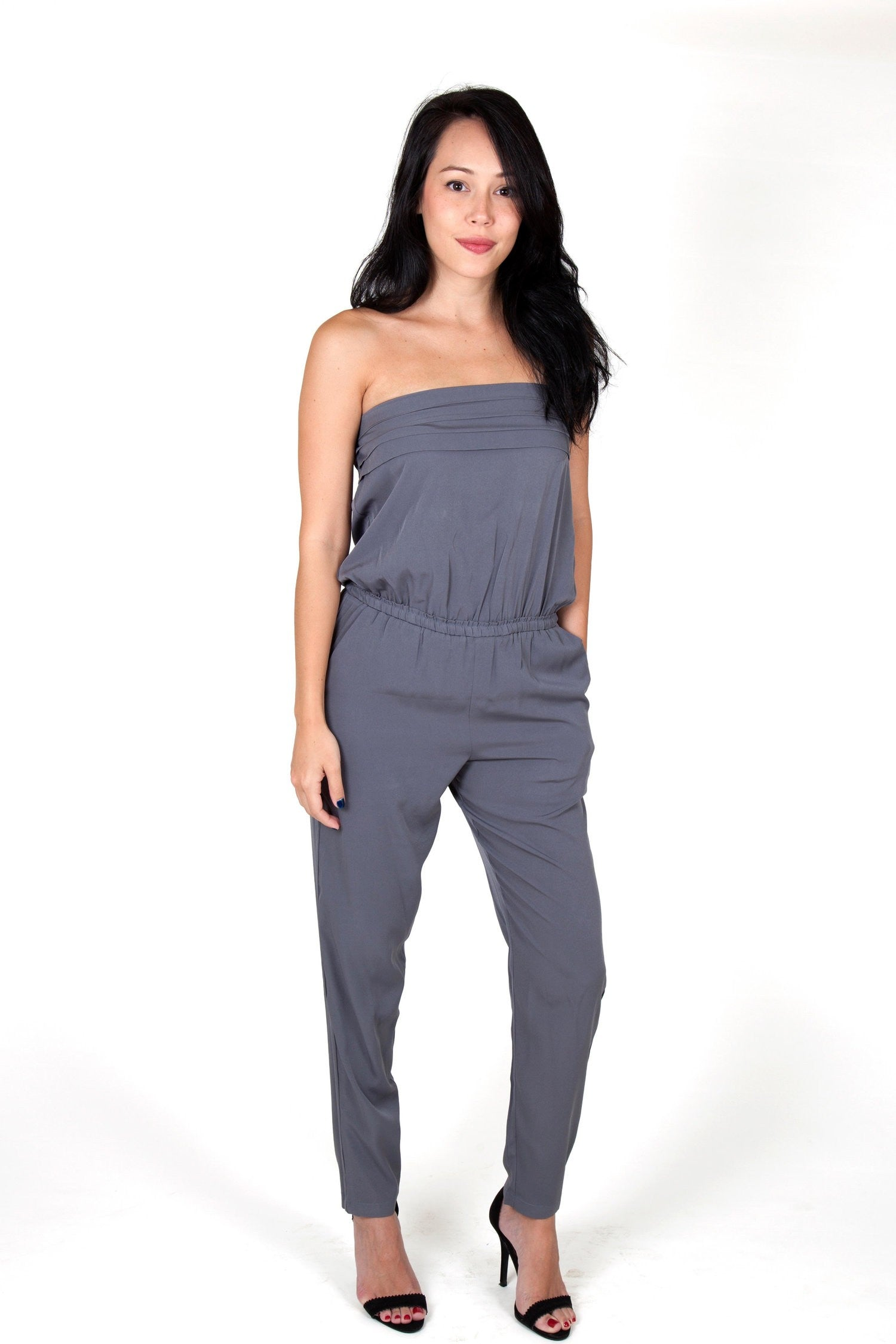 1419b70db8 Julie Grey Jumpsuit Capsule Collection By Juliette - S - Jumpsuits Capsule  Collection By Juliette