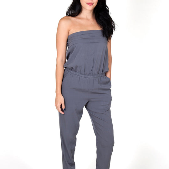 Julie Grey Jumpsuit Capsule Collection By Juliette - S - Jumpsuits Capsule Collection By Juliette