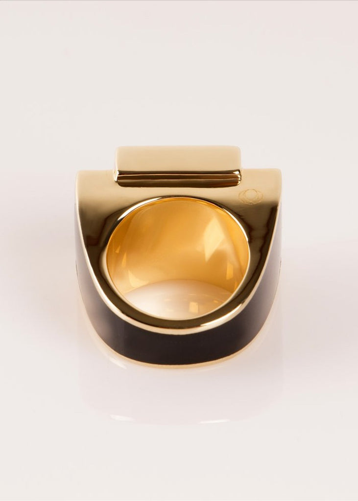 Ring One - Gold The Rose - Black / 53-S - Ring The Rose