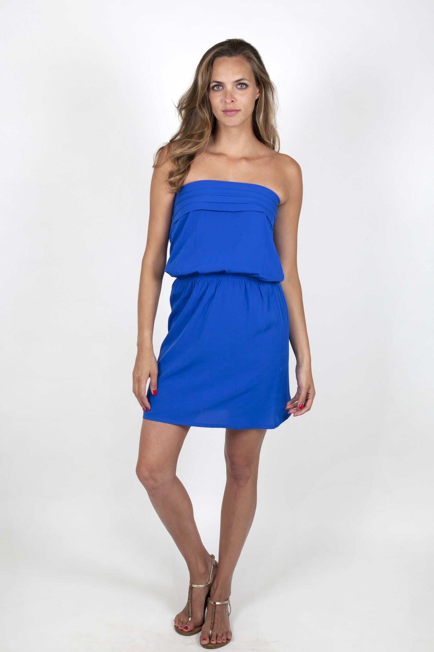 Julie Electric Blue Dress Capsule Collection By Juliette - S / - Dresses