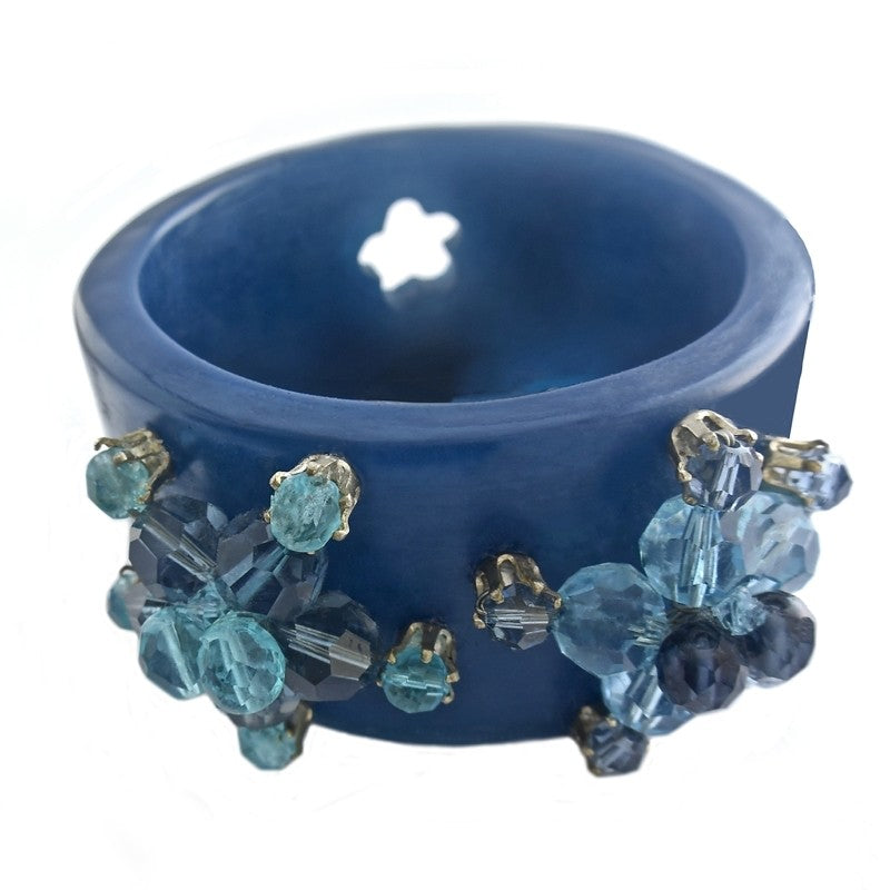 Blue Resin Technicolor Bracelet Etone Design - Bracelet Etone Design