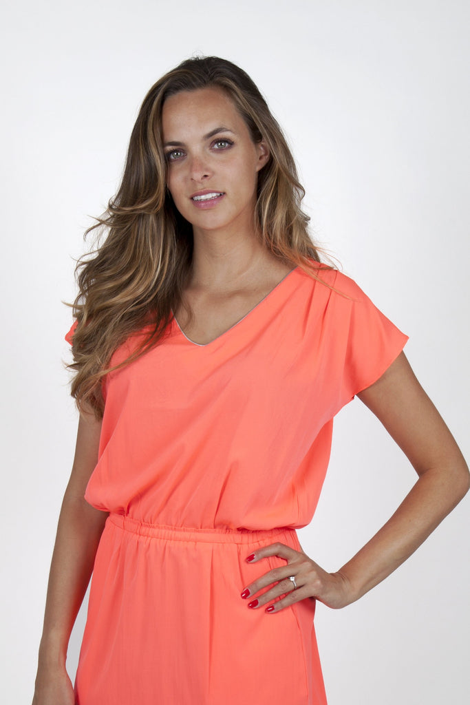 Sofia Neon Orange Dress Capsule Collection By Juliette - Dresses Capsule Collection By Juliette