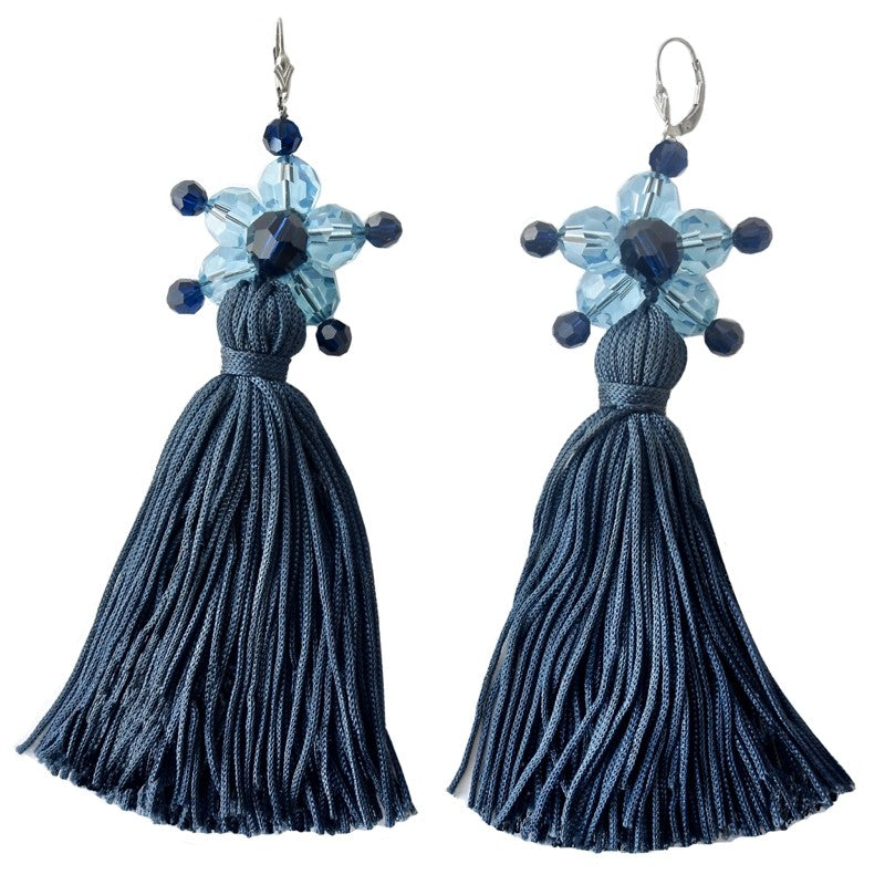 Lollipop Navy Earrings Etone Design - Earrings