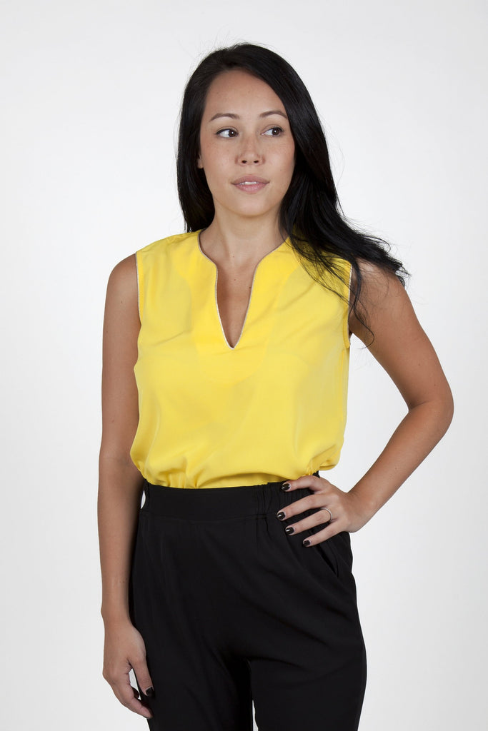 Ina Yellow Top Capsule Collection By Juliette - S / Yellow - Tops Capsule Collection By Juliette