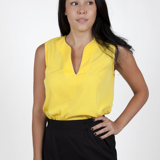 Ina Yellow Top Capsule Collection By Juliette - S / - Tops