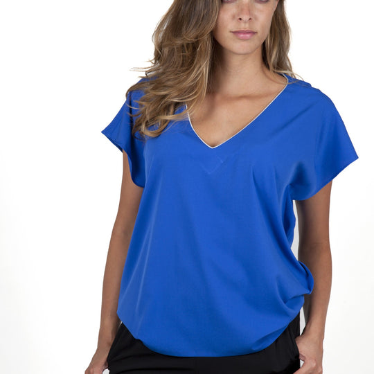 Stella Blue Electric Top Capsule Collection Juliette - Electric Blue / Free - Tops Capsule Collection By Juliette