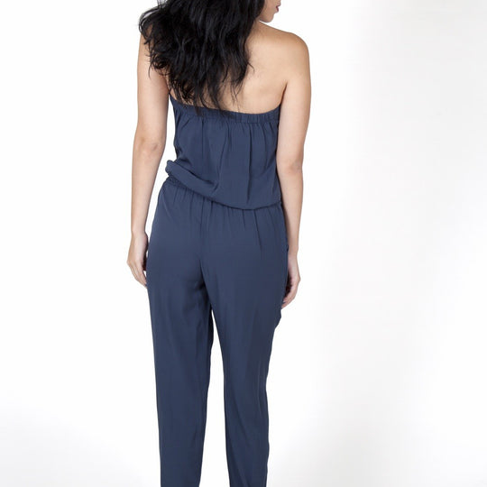 Julie Dark Blue Jumpsuit Capsule Collection By Juliette - M - Jumpsuits Capsule Collection By Juliette