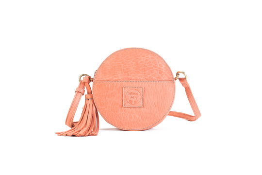 Darling Moon Flamingo Leather Circle Bag Virginie Darling - Handbag Virginie Darling