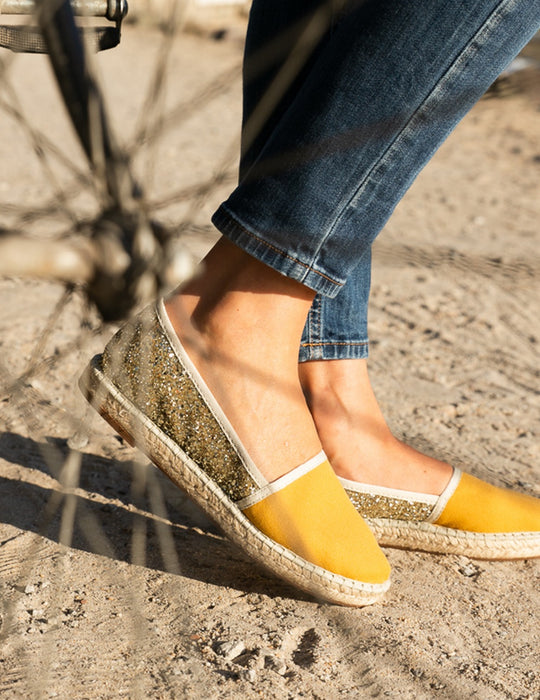 Grace Glitter Honey Espadrille, Escadrille Paris