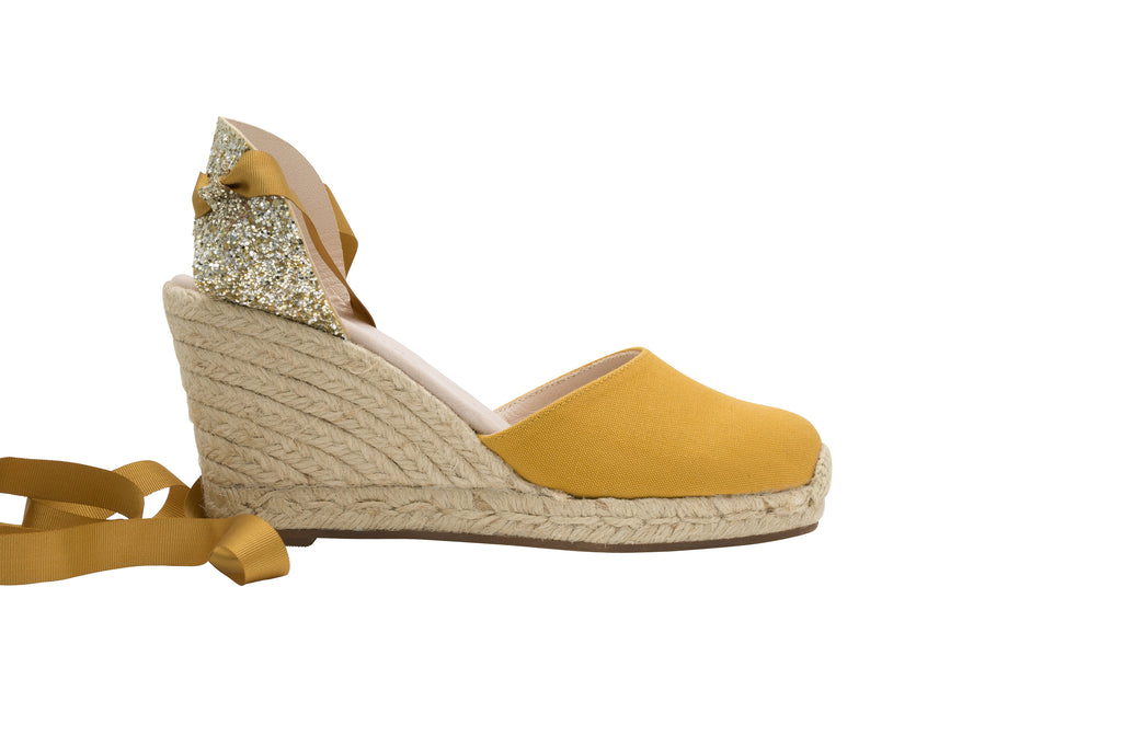 Grace Glitter Honey High Heels Espadrille, Escadrille Paris