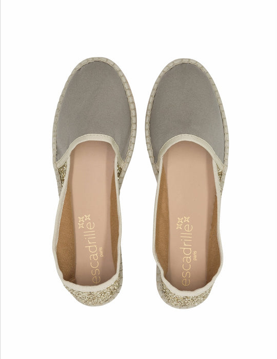 Grace Glitter Grey Espadrille, Escadrille Paris