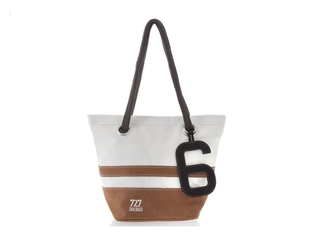 Legende Camel Recycled Sails Leather Handbag, 727 Sailbags