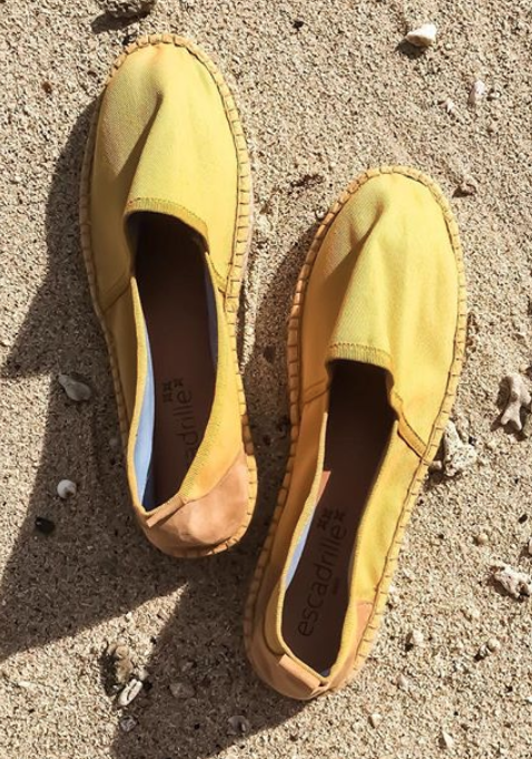Ilbarritz Mustard Yellow Espadrille, Escadrille Paris