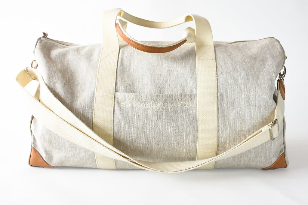 Jeanne The 48H Beige Travel Bag Maison Jeanne - Weekender Maison Jeanne
