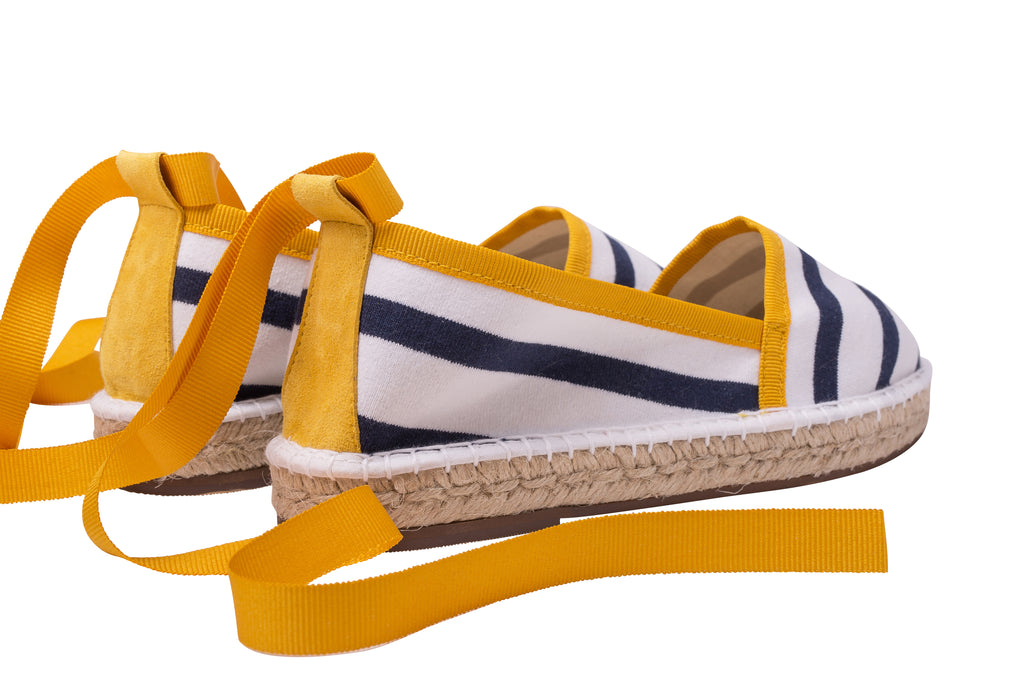 La Belle Marinière Yellow Striped Espadrille, Escadrille Paris