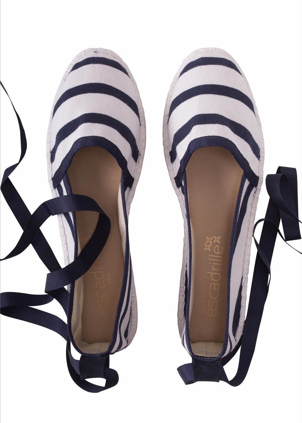 La Belle Marinière Navy Striped Espadrille, Escadrille Paris