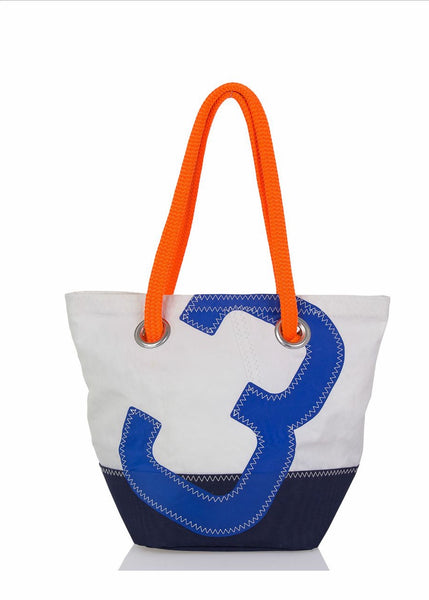 Legende Blue_Orange Recycled Sails Handbag, 727 Sailbags