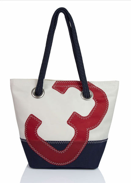 Legende Red_Navy Recycled Sails Handbag, 727 Sailbags