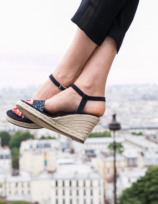 Lovrecina Black Sandals, Escadrille Paris