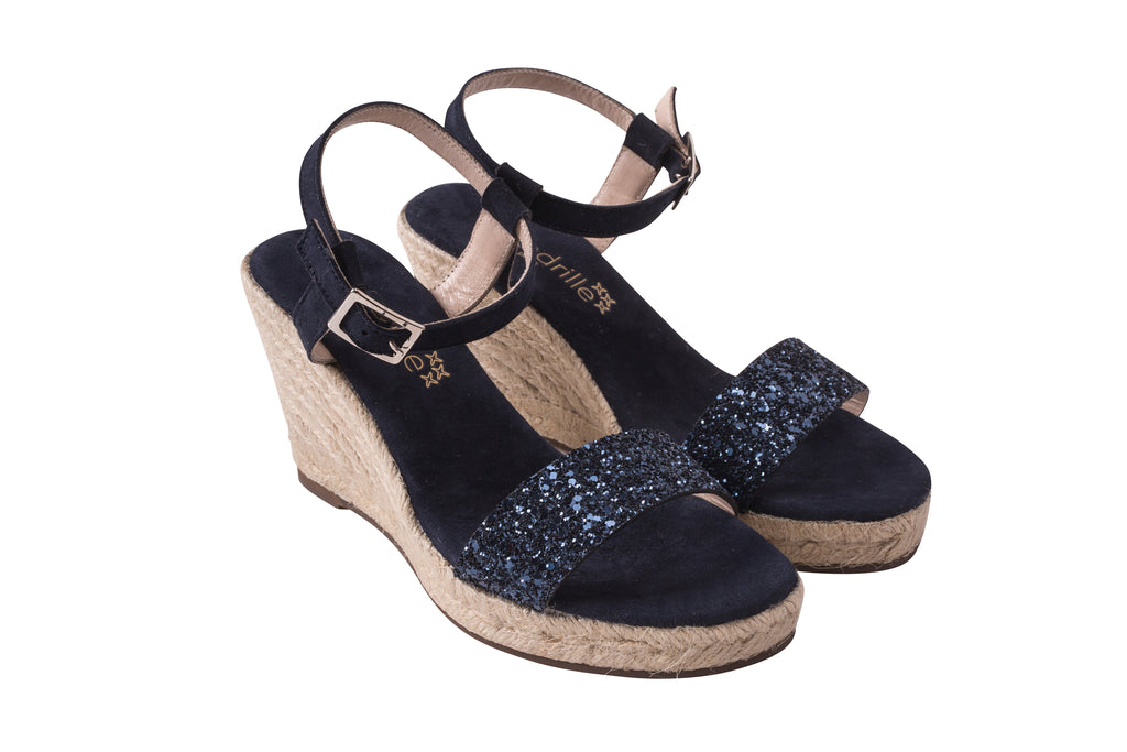 Lovrecina Navy Glitter Sandals, Escadrille Paris
