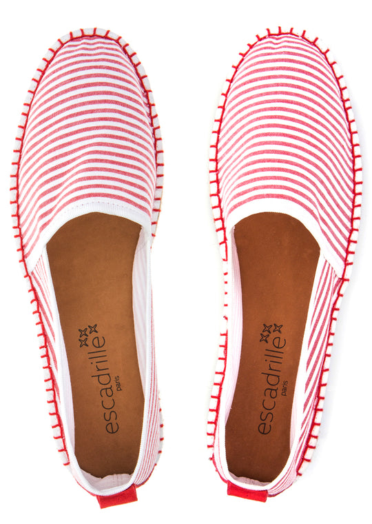 Nouvelle Vague Red Striped Espadrille, Escadrille Paris