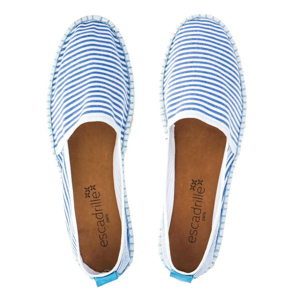 Nouvelle Vague Light Blue Striped Espadrille, Escadrille Paris