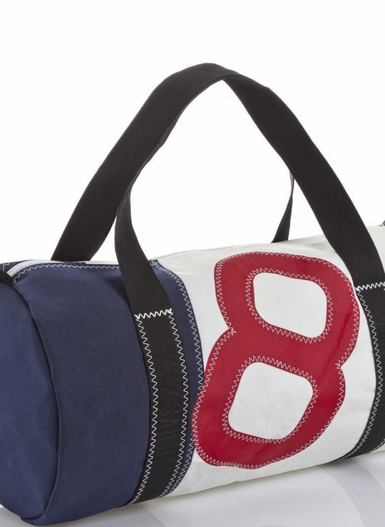 Onshore Red_Navy Recycled Sails Weekender bag, 727 Sailbags