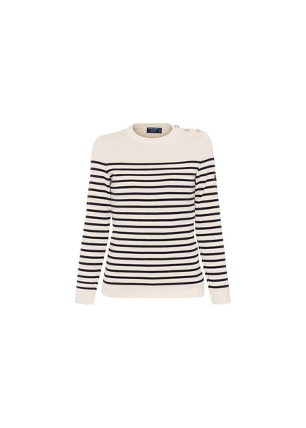 saint james striped navy sweater