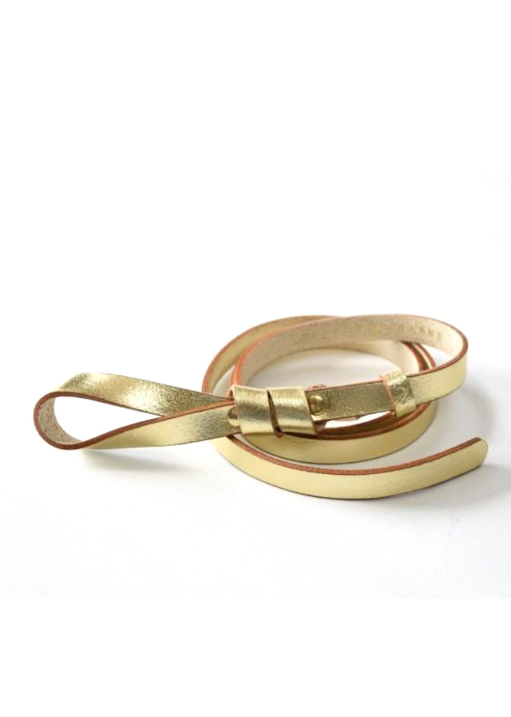 Gold Leather Belt Mathilde Maison Jeanne - Belts Maison Jeanne
