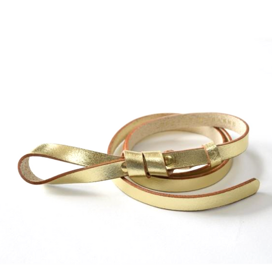 Gold Leather Belt Mathilde Maison Jeanne - Belts