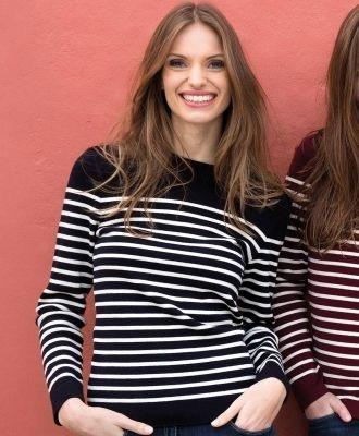 navy striped sweater saint james