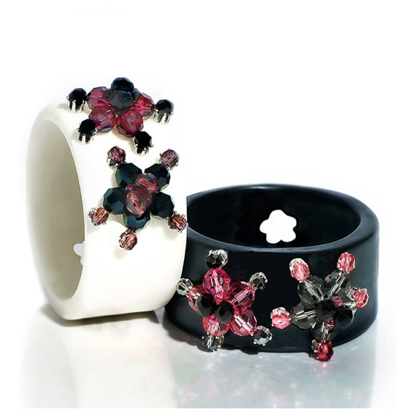 Black Resin Technicolor Bracelet Etone Design - Bracelet Etone Design