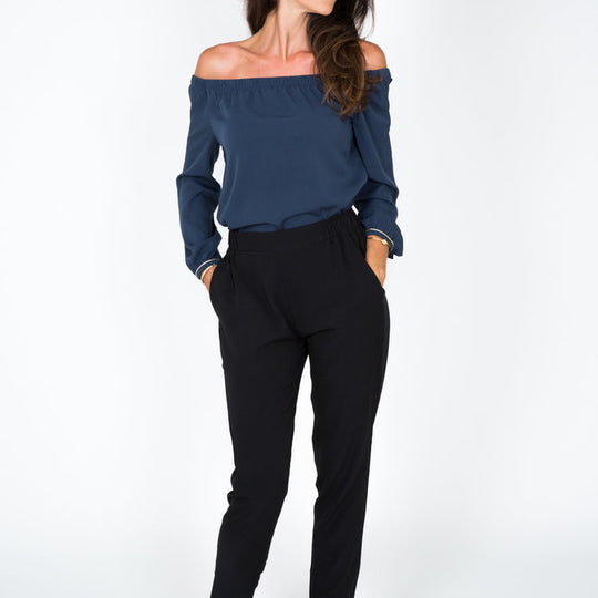 Lea Dark Blue Top, Capsule Collection by Juliette