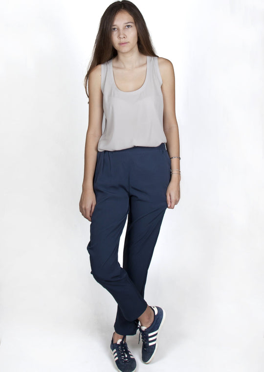 Mathilde Dark Blue Pants Capsule Collection By Juliette - S / Dark Blue - Pants Capsule Collection By Juliette