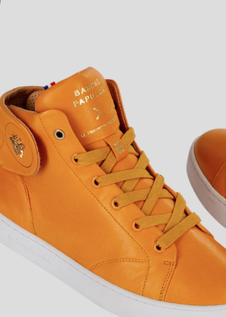 all orange sneakers barons papillom