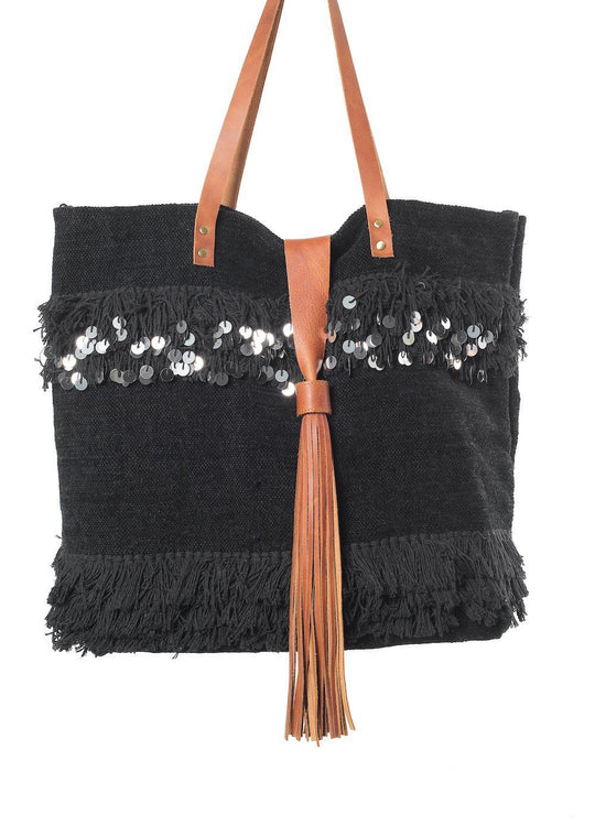 Annie Black Velvet Tote Bag Virginie Darling - Tote Bag Virginie Darling