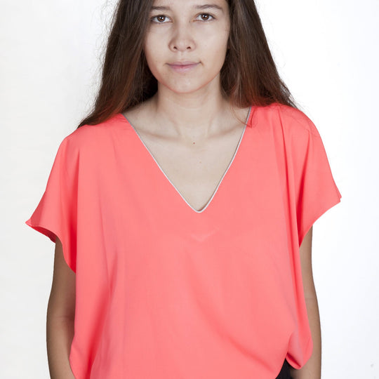 Stella Neon Orange Top Capsule Collection By Juliette - Lightcoral / Free - Tops