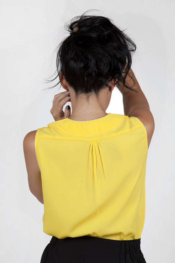 Ina Yellow Top Capsule Collection By Juliette - Tops