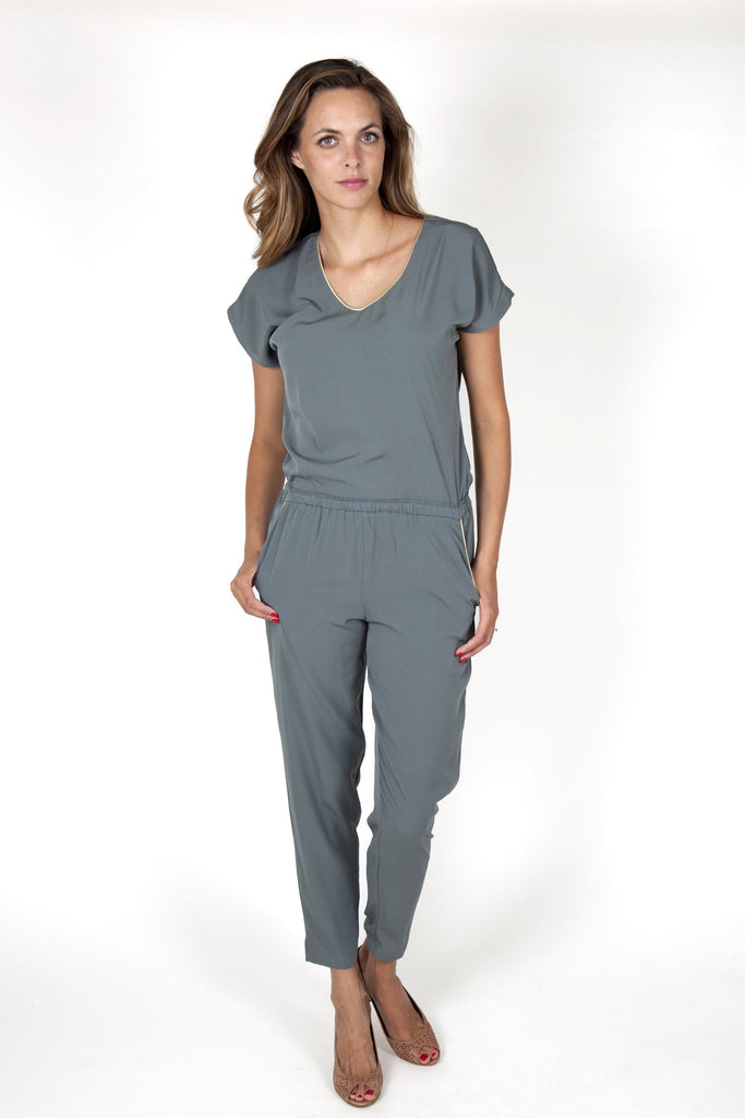 Eva Kaki Grey Jumpsuit Capsule Collection By Juliette - M - Jumpsuits Capsule Collection By Juliette