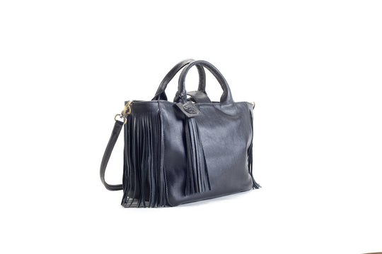 Baby Darling Black Leather Handbag Virginie Darling - Handbag Virginie Darling