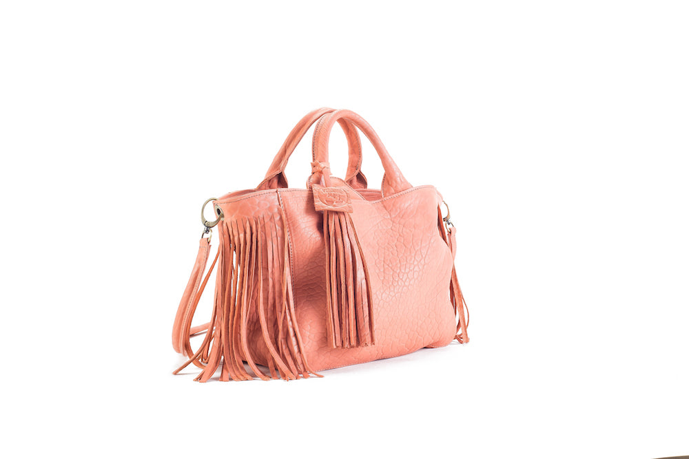 Baby Darling Flamingo Leather Handbag Virginie Darling - Handbag Virginie Darling