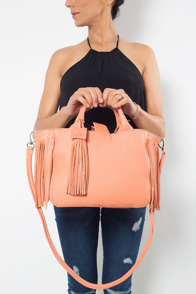 Baby Darling Flamingo Leather Handbag Virginie