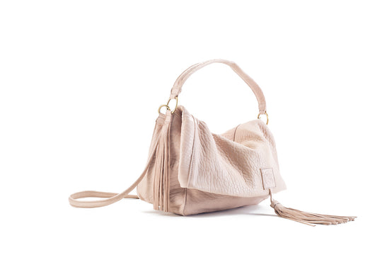 Baby Love Nude Leather Handbag Virginie Darling - Handbag Virginie Darling