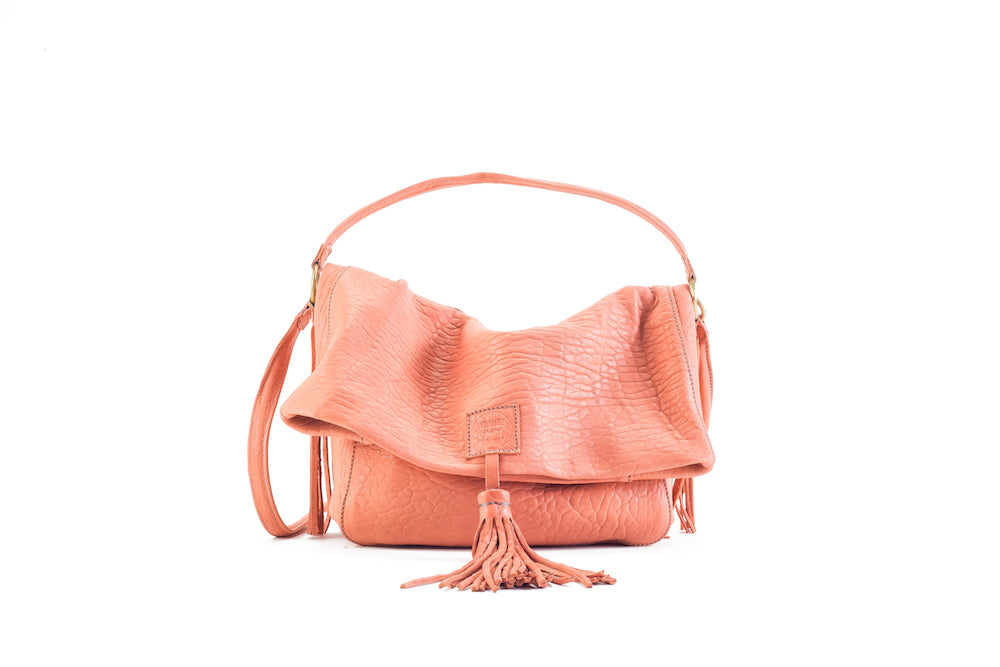 Baby Love Flamingo Leather Handbag Virginie Darling - Handbag Virginie Darling